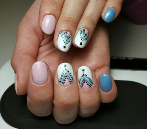Manucure d'automne à la mode - Photo d'idée nail art saisonnière
