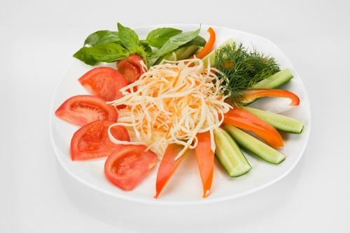 Belles tranches de légumes - idées de conception de photos